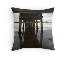 Old Port Broughton jetty Throw Pillow