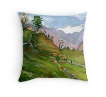 Pokhara to Jomsom Throw Pillow