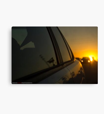 Driving Away From Sunsets Canvas Print
