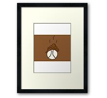 Brown Ball Framed Print