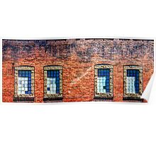 Brick Windows Poster