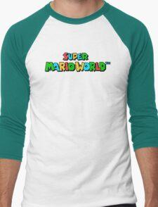 Super Mario World Logo Men's Baseball ¾ T-Shirt