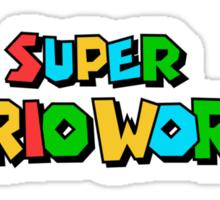 Super Mario World Logo Sticker