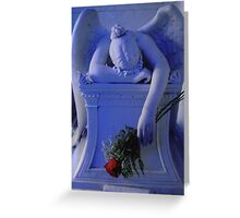 weeping angel (blue) Greeting Card
