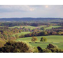 English Countryside at Dusk Photographic Print