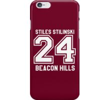 Stiles Stilinski #24 iPhone Case/Skin