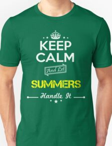 SUMMERS KEEP CLAM AND LET  HANDLE IT - T Shirt, Hoodie, Hoodies, Year, Birthday T-Shirt