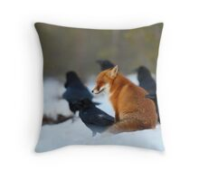 Moment with ravens Throw Pillow