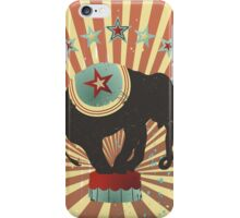 Vintage style circus elephant big top stripes iPhone Case/Skin