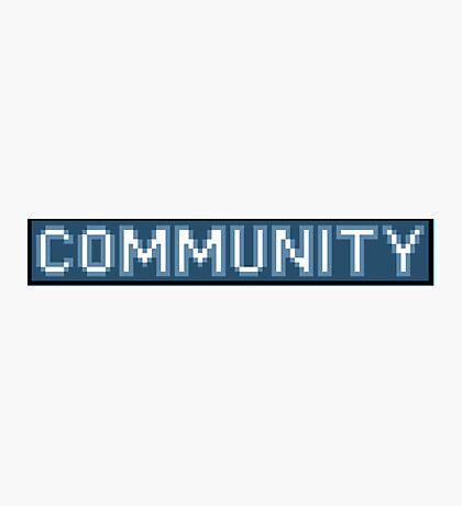 8-Bit Community Logo  Photographic Print