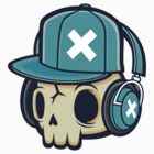 Skull and Headphones by cronobreaker