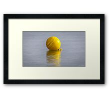 Yellow Buoy Framed Print
