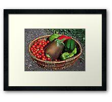 A Bountiful Basket Framed Print