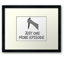 Buffy Just One More Framed Print