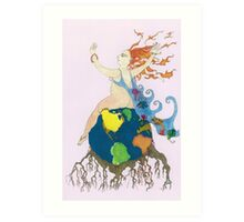Earth Goddess Art Print