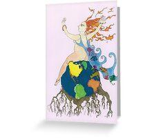 Earth Goddess Greeting Card