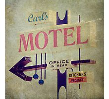 Carl's Motel Photographic Print