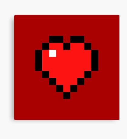Heart - Minecraft Canvas Print