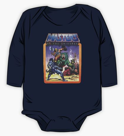 He-Man Masters of the Universe Battle Scene with Skeletor One Piece - Long Sleeve