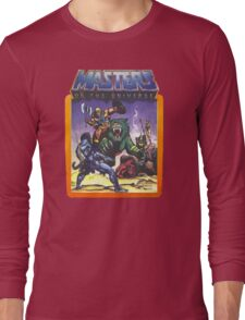 He-Man Masters of the Universe Battle Scene with Skeletor Long Sleeve T-Shirt