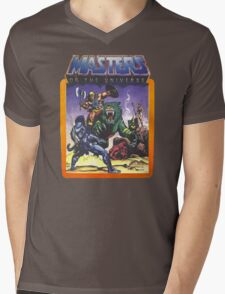 He-Man Masters of the Universe Battle Scene with Skeletor Mens V-Neck T-Shirt