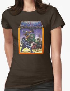 He-Man Masters of the Universe Battle Scene with Skeletor Womens Fitted T-Shirt