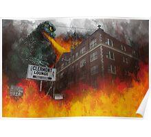 Clermont v/s Godzilla Poster