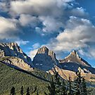 Three Sisters Range, Canmore, Alberta by Vickie Emms