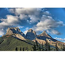 Three Sisters Range, Canmore, Alberta Photographic Print