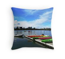 Off for a paddle Throw Pillow