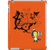 Music Demon Orange iPad Case (Black Outline) iPad Case/Skin