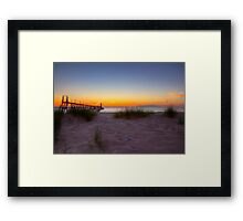 Manistee Sunset Framed Print