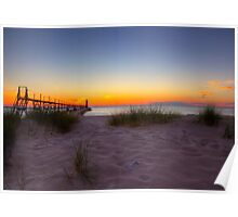 Manistee Sunset Poster