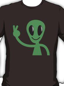 RUDE finger pulling ALIEN! T-Shirt