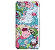 seamless pattern of doodle of crazy sea-life creatures having fun 2 iPhone Case/Skin
