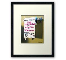The Inner Party Show Flyer - June 10, 2008 - V1 Framed Print
