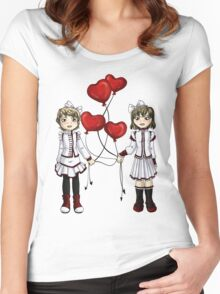 Love on a String Women's Fitted Scoop T-Shirt