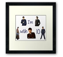 Doctor who- 10th doctor  Framed Print