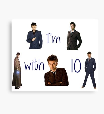 Doctor who- 10th doctor  Canvas Print