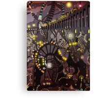 Steampunk Monday [Dark version] Canvas Print