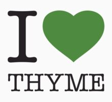 I ♥ THYME One Piece - Short Sleeve