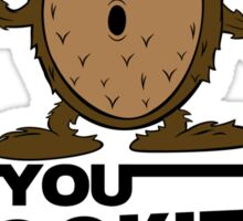 Wookieeeeediot Sticker