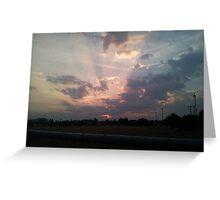 Epic Sun Set Greeting Card