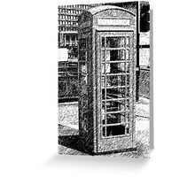 Phone booth Greeting Card