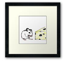 Big Cheese Little Mouse Framed Print