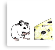 Big Cheese Little Mouse Canvas Print