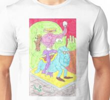 sandwich man and his snowglobe Unisex T-Shirt