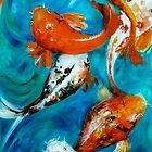 Koi Mirror Unframed by Cathy Gilday