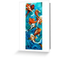 Koi Mirror Unframed Greeting Card