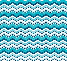 Cool Blue Chevron by silvianeto